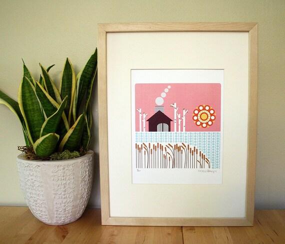 Midsummer Sauna House Ltd. edition print