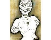 Drawing 'Mascarade Venus', Archival Matte Print