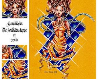 Drawing 'Aluminiaries-Forbidden Dance', Original, 8.5x11