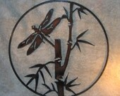 Dragonfly in the Bamboo- Metal Wall Decor-Suitable for Indoors or Outdoors