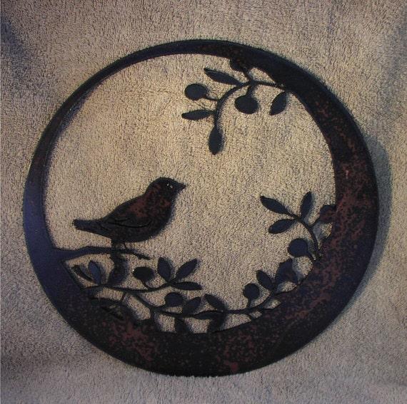 Metal Art-Wren in the Olives- Metal Art