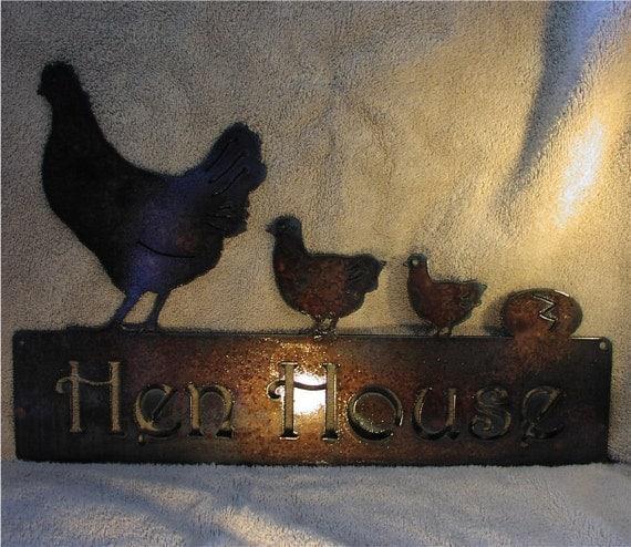 Hen House- Metal Art Metal Sign