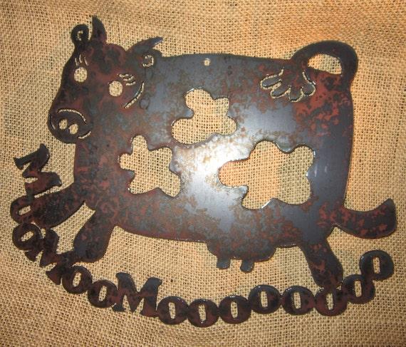 Mooo-Bovine Metal Art-Matilda the Dancing Cow