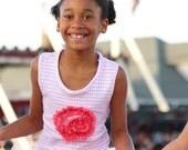 Girls Tee shirt Knit jersey Pink Tank - BLUSH LOVE - custom made to order