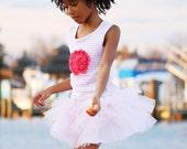 Tutu, Tu Tu, Girls tutu Skirt Pink Tulle Made to order Newborn - 8 years - ROSY RAZZLE