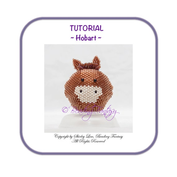 Beaded PDF Tutorial for Hobart the Horse