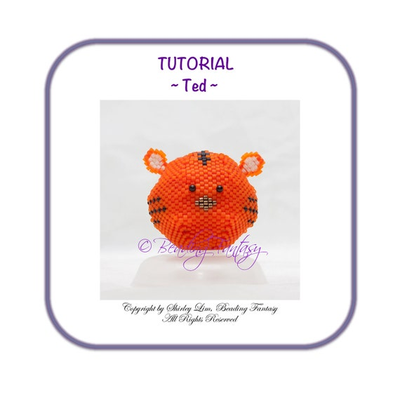 Beaded PDF Tutorial for Ted the Tiger