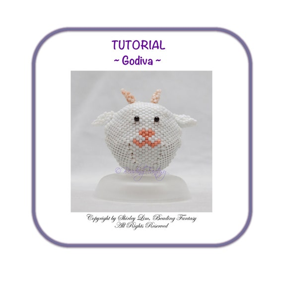 Beaded PDF Tutorial for Godiva the Goat