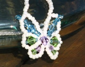 Butterfly Necklace with Swarovski Crystals (184S)