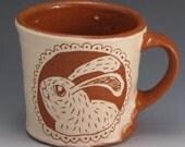 Coffee Mug with Happy Rabbit