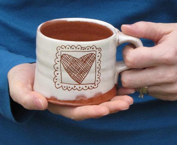 Valentine's Day Mug with Hearts