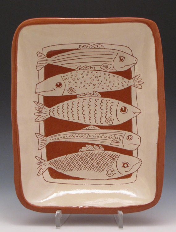 Fish Dish Ceramic Terracotta Serving Dish