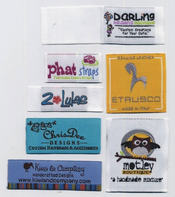 600 Custom Woven Artwork Labels Fully Personalized For your Garment boutique - Our Products Never FADING by HIGH Quality Damask Fabric (No Hiding Fee) All Woven Label Finished by Professional Italian Label Machine Not a Small Home Machine