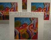 5 Mini Note Cards - ETERNAL CITY (only) - 912