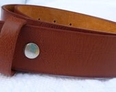 "Beautiful Tan Leather Belt- Men Women - Snap On Strap Removable Changeable - SUPPLE- 1.5"" -28 30 32 34 36 38 40 42 44 46- 25+ Styles Avail"