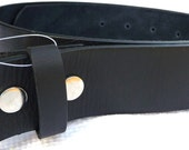 "Beautiful Black Leather Belt Strap- Men Women- SUPPLE- Snap On Removable Changeable- 1.5"" -28 30 32 34 36 38 40 42 44 46 47 -25 STYLES AVAIL"