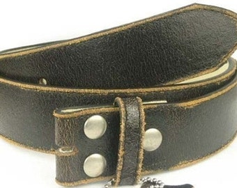 "Black Distressed Leather Belt Strap- Snap On- 1.5"" 38mm- Men Women -30 31 32 33 34 35 36 37 38 39 40 41 42 44 45 46 47 xxl- 25+ STYLES AVAIL"