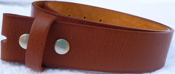 "Beautiful Tan Leather Belt Strap - Snap On Removable - Supple - Womens Mens - 1.5"" - 28 30 32 34 36 38 40 42 44 46 - 25+ OTHER STYLES AVAIL"