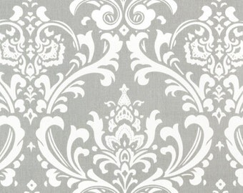 "TABLE SQUARE Grey and white Damask Table Squares  Osborne 20"" storm gray"