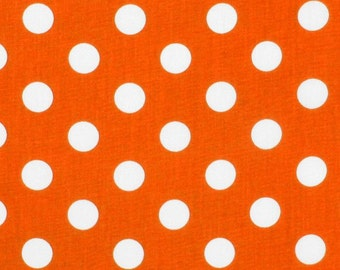TABLE RUNNER Polka Dot White on Bright Orange Wedding Bridal Home Decor Chic  Other colors available