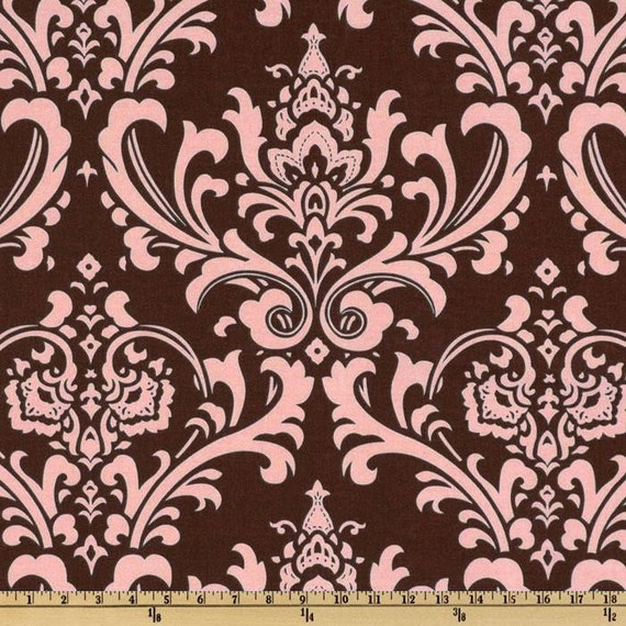 CLEARANCE TABLE RUNNERS Last Ones Traditions  Pink on Chocolate Brown Damask Wedding Bridal