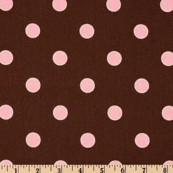 table runner polka dot pink on chocolate brown wedding bridal. Black Bedroom Furniture Sets. Home Design Ideas