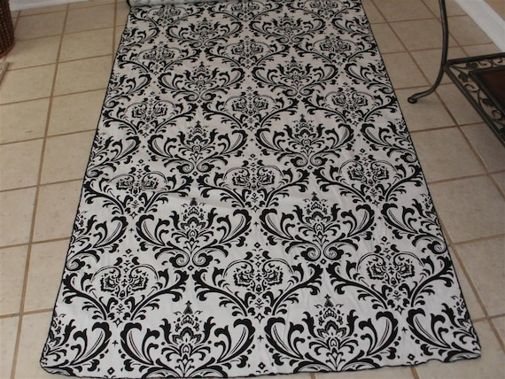 damask aisle runner traditional black white wedding bridal 25 35