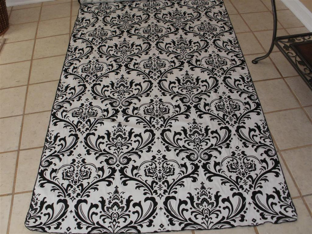 damask aisle runner traditional black white wedding