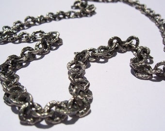 Raw Sterling Silver Chain