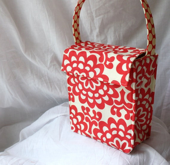 Insulated Lunch Tote Tall - Your Choice of Fabric for this Design