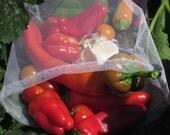 6 MEDIUM reusable produce bags