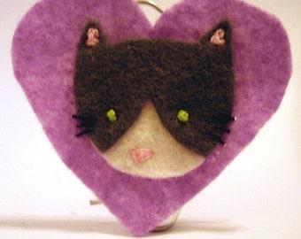 CUSTOM Felt Cat Cameo - design your own