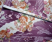 2262 - Japanese Kimono Style Cherry Blossom Floral Cotton Fabric - 43 Inch (Width) x 1/2 Yard (Length)