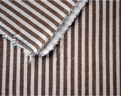 2344 - Japanese Brown Stripes Cotton Linen Blend Fabric - 57 Inch (Width) x 1/2 Yard (Length)