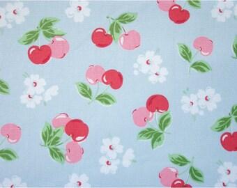 2313 - Cath Kidston Cherry (Light Blue) Cotton Canvas Fabric - 57 Inch (Width) x 1/2 Yard (Length)