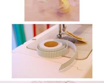 Cotton Fabric Adhesive Deco Tape (P72.04 - Yellow & White Gingham Check)