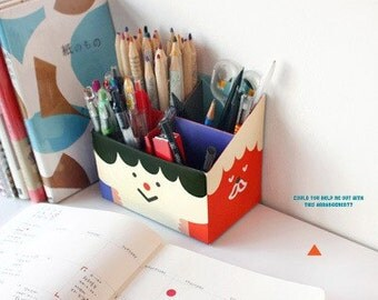Easy DIY Scrapbook Pencil Box (P81.1 - Funny Face)