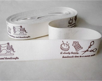 2cm x 1yard (my hobby) cotton sewing tape trim ribbon label (S324)