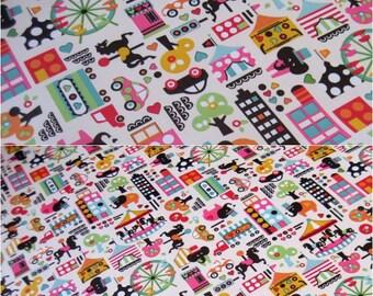 2528 - Circus Waterproof Fabric - 58 Inch (Width) x 1/2 Yard (Length)