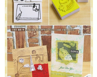 10pcs Rubber Stamps Collection (P134.4 - A Travel Story)