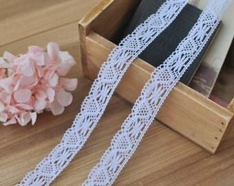 2cm x 2yards (white) cotton crochet lace trim (S492)