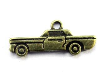 5pcs 27.5x11.5mm antique bronze car charms pendants (J401)