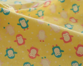 2843 - Penguin Flannel Cotton Fabric - 42 Inch (Width) x 1/2 Yard (Length)