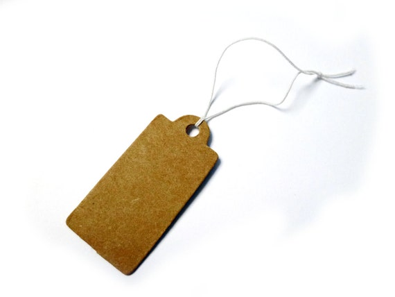 Set of 100pcs 1.9x3.9cm (rectangle) cardboard blank gift price tags (S53.16)