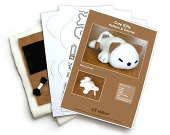 Cute Kitty soft toy - Cat sewing KIT