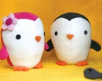 Cute Penguin stuffed animal Pattern - PDF