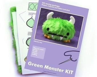 Green Monster soft toy - KIT