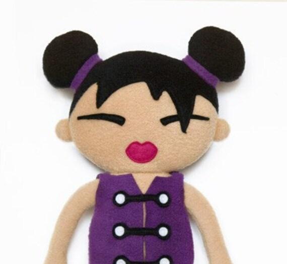 Doll pattern Miko japanese rag doll, cloth doll