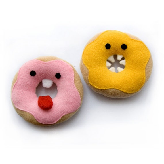 Donut soft toy pdf sewing pattern - cute plushie for children