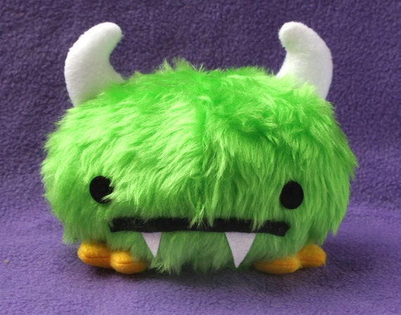 Green Monster soft toy sewing plushie doll Pattern - PDF